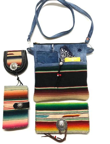 Vintage Mexican & Rag Japan Denim Sacoche Small