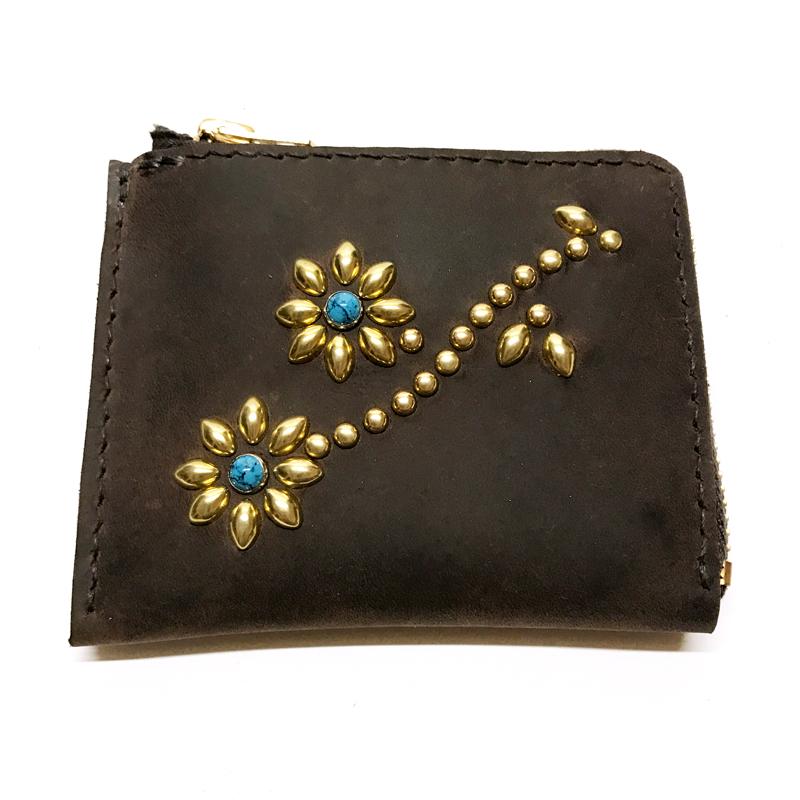 leather L Zip hand stitch Wallet