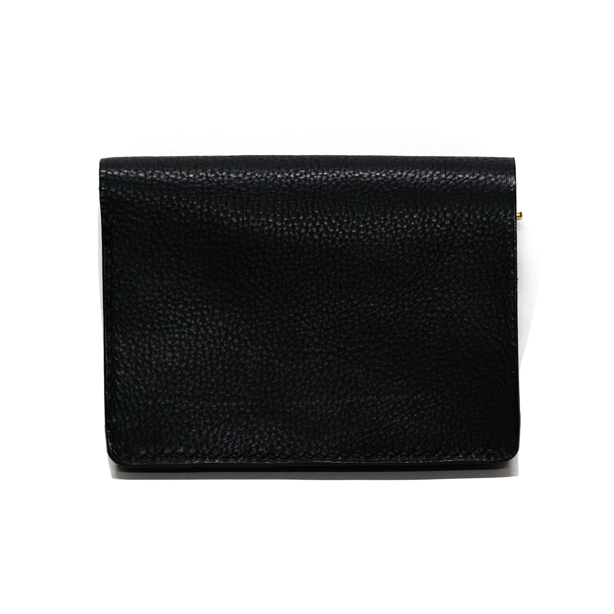Grain Leather Hand Stitch Tracker Wallet BLACK