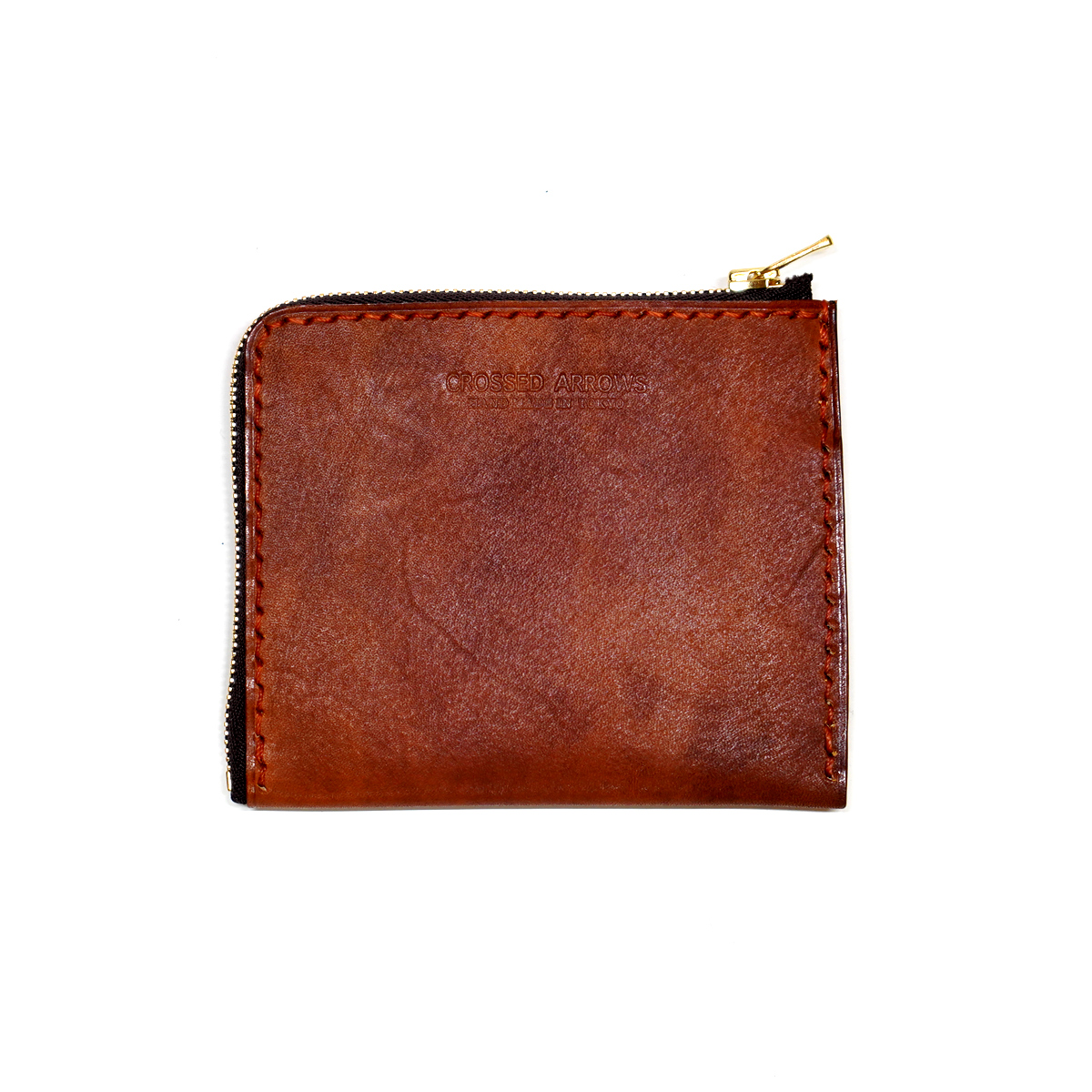 Grain leather L Zip Wallet